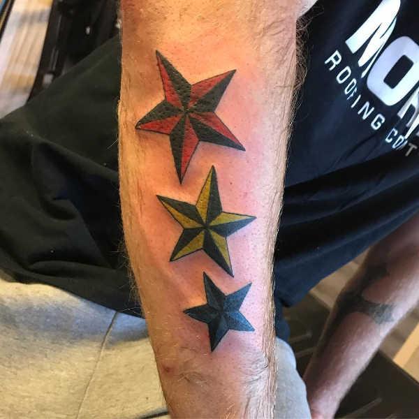 Znaczenie tatuaży  Tatuaż gwiazda żeglarska – znaczenie, historia, 30 zdjęć