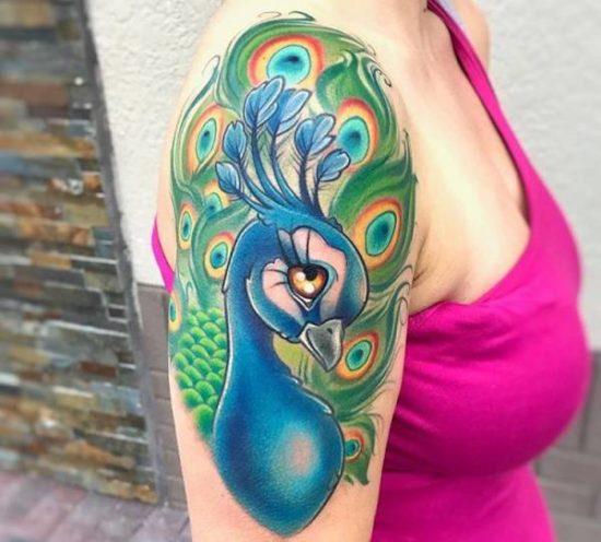 Tatuaż Pawia Znaczenie Historia 24 Zdjęć