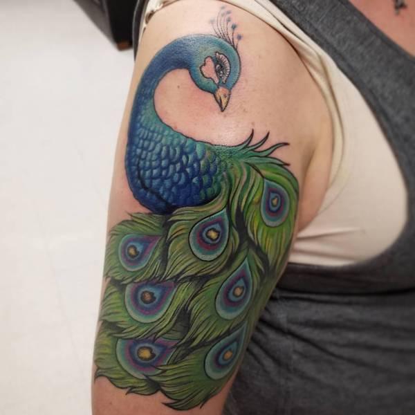Znaczenie tatuaży Zwierzęta  Tatuaż pawia – znaczenie, historia, 24 zdjęć