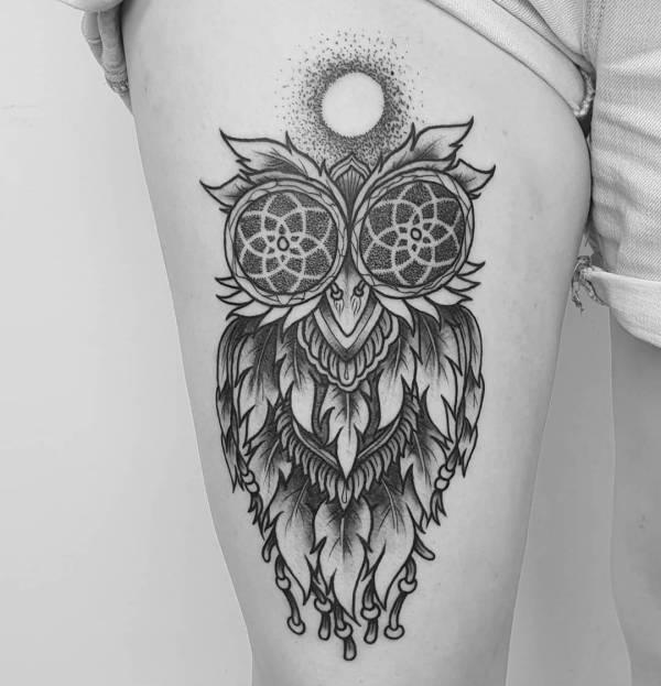 Znaczenie tatuaży Zwierzęta  Tatuaż sowy – znaczenie, historia, 30 zdjęć