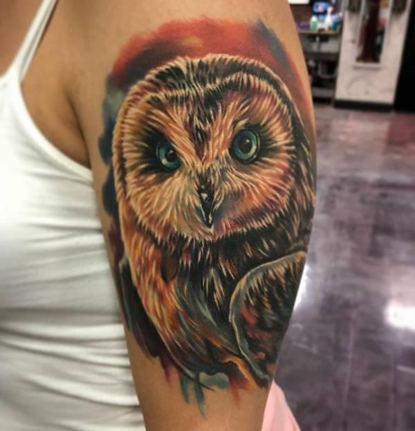 Tatuaż Sowy Znaczenie Historia 30 Zdjęć