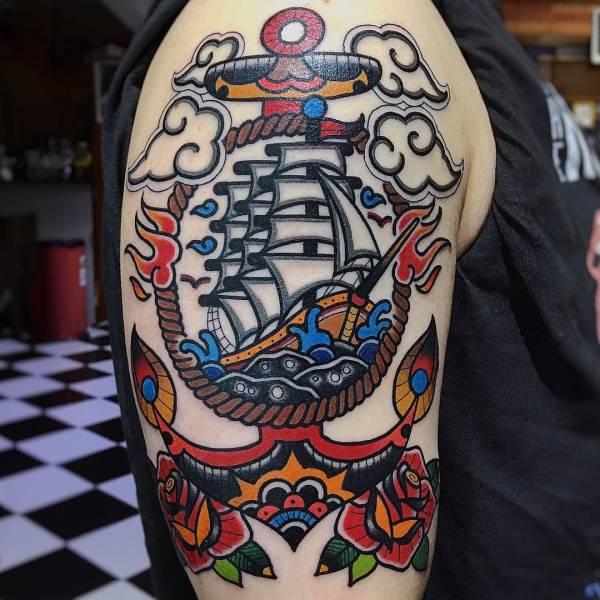 Tatuaż Statek Znaczenie Historia 32 Zdjęć