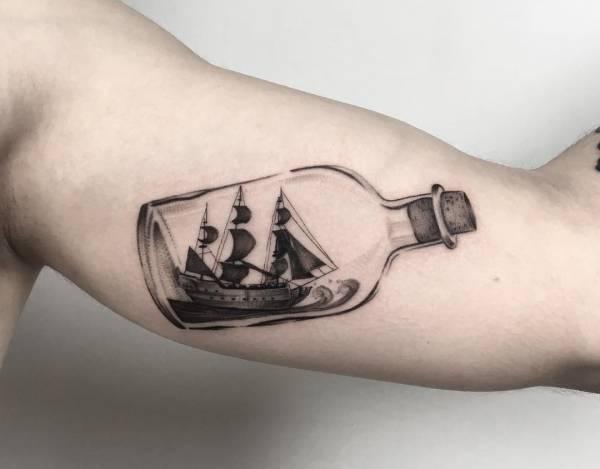 Znaczenie tatuaży  Tatuaż statek – znaczenie, historia, 32 zdjęć