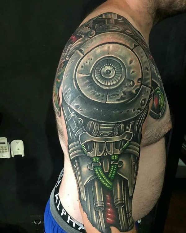 Pomysły na tatuaże  Tatuaż biomechanika – znaczenie, symbolika, 100 zdjęć