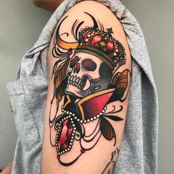 Znaczenie tatuaży  Tatuaż czaszki – znaczenie, historia, 80 zdjęć