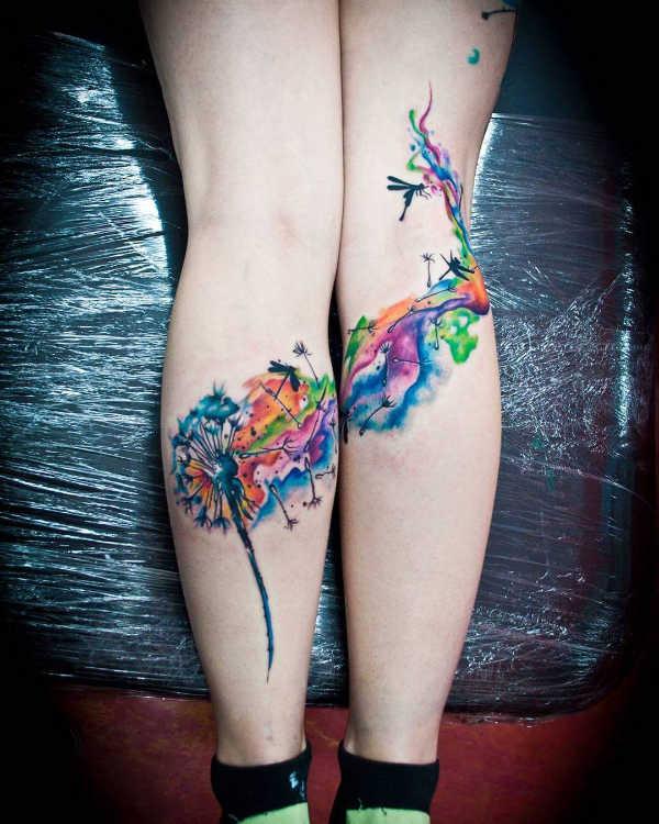 Tatuaż Dmuchawiec Znaczenie Historia 50 Zdjęć