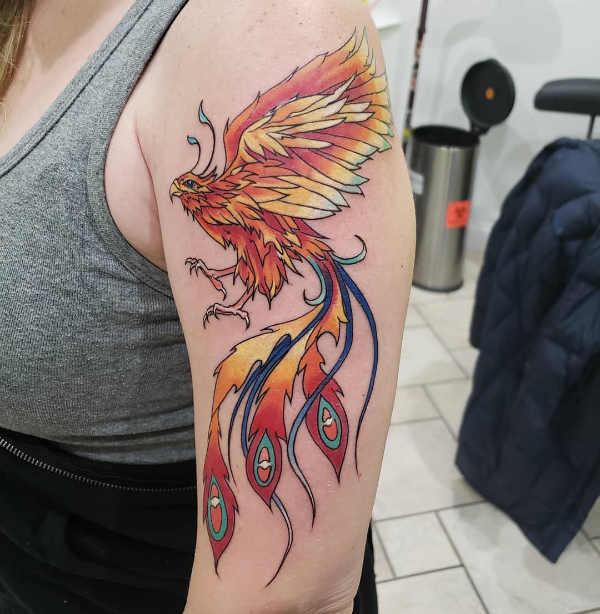 Tatuaż Feniksa Znaczenie Historia 30 Zdjęć
