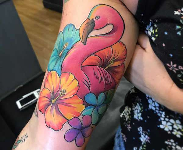 Znaczenie tatuaży Zwierzęta  Tatuaż flaming – znaczenie, historia, 35 zdjęć
