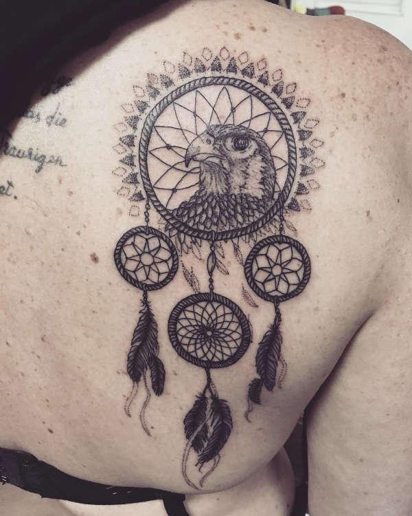 Znaczenie tatuaży  Tatuaż łapacz snów (dreamcatcher) – znaczenie, historia, 50 zdjęć