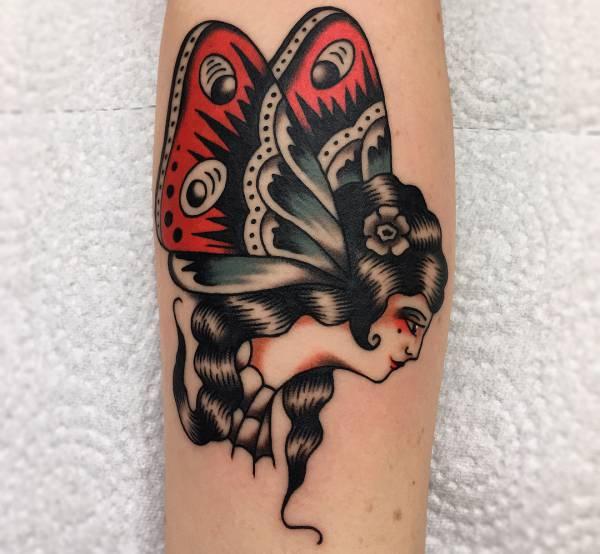Znaczenie tatuaży Zwierzęta  Tatuaż motyl – znaczenie, historia, 40 zdjęć