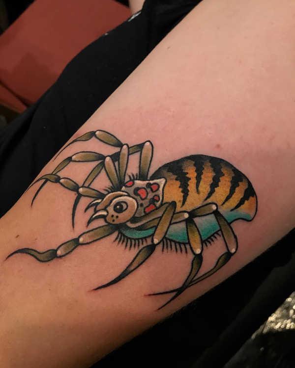 Znaczenie tatuaży Zwierzęta  Tatuaż pająk – znaczenie, historia, 40 zdjęć