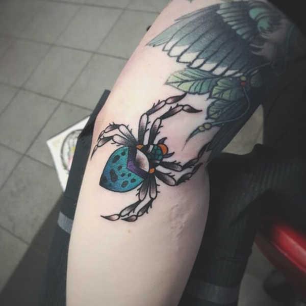 Tatuaż Pająk Znaczenie Historia 40 Zdjęć