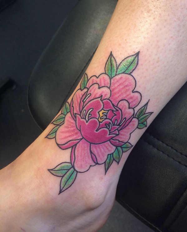 Tatuaże kwiaty Znaczenie tatuaży  Tatuaż piwonie – znaczenie, historia, 40 zdjęć
