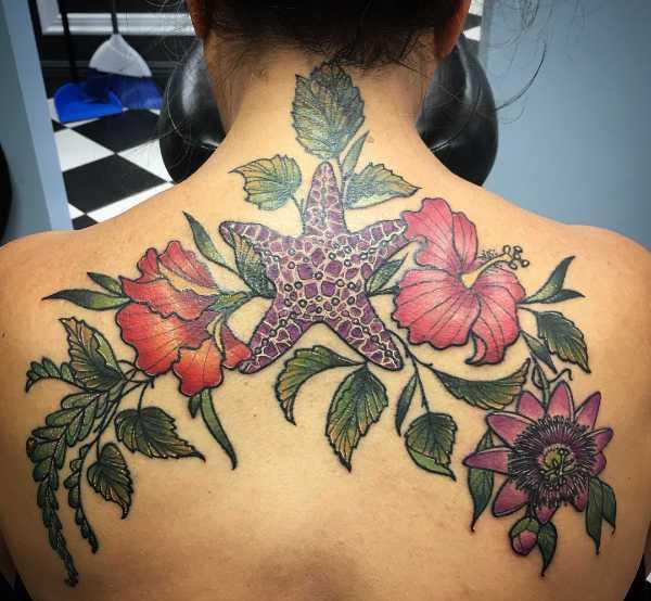 Znaczenie tatuaży Zwierzęta  Tatuaż rozgwiazdy – znaczenie, symbolika, 20 zdjęć