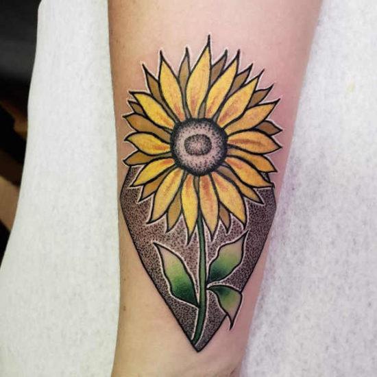 Tatuaż słonecznik – znaczenie, historia, 88 zdjęć Tatuaże kwiaty Znaczenie tatuaży