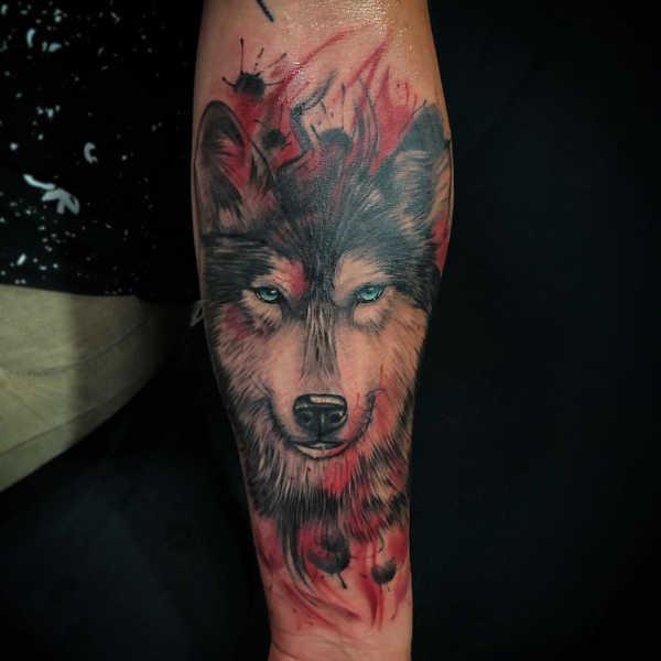 Znaczenie tatuaży Zwierzęta  Tatuaż wilka – znaczenie, historia, 135 zdjęć