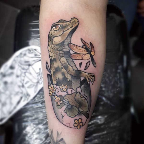 Znaczenie tatuaży Zwierzęta  Tatuaż krokodyl – znaczenie, symbolika, 25 zdjęć
