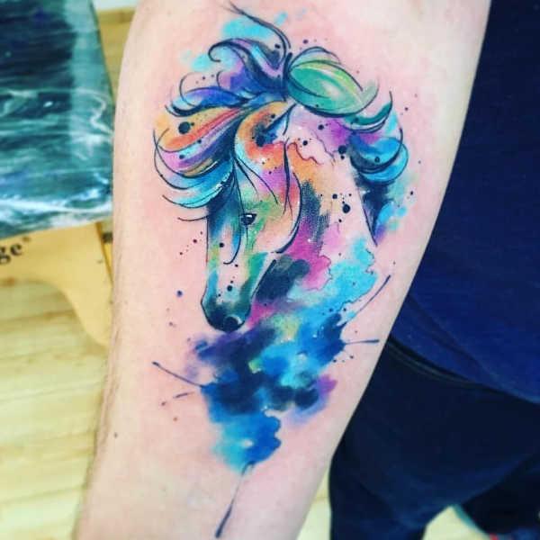 Tatuaż Koń Znaczenie Symbolika 40 Zdjęć