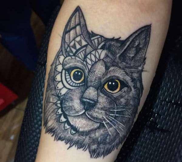 Tatuaż Kot Znaczenie Historia 50 Zdjęć