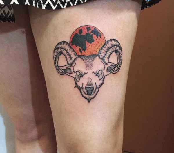 Znaczenie tatuaży Zwierzęta  Tatuaż kozioł – znaczenie, historia, 30 zdjęć