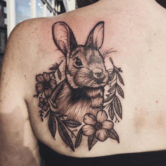 Tatuaż królik – znaczenie, historia, 36 zdjęć Znaczenie tatuaży Zwierzęta