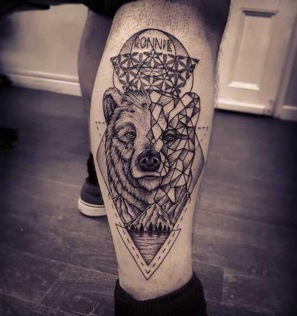 Znaczenie tatuaży Zwierzęta  Tatuaż niedźwiedź – znaczenie, symbolika, 50 zdjęć