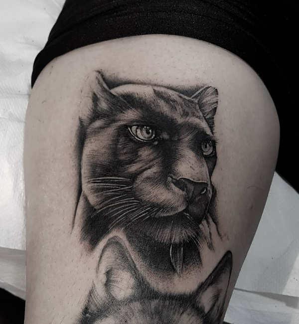 Znaczenie tatuaży Zwierzęta  Tatuaż pantera – znaczenie, historia, 25 zdjęć