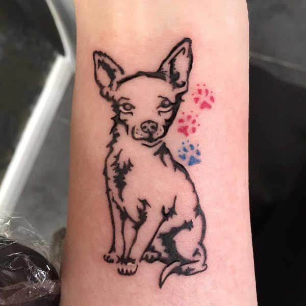 Znaczenie tatuaży Zwierzęta  Tatuaż z psem – znaczenie, symbolika, 40 zdjęć