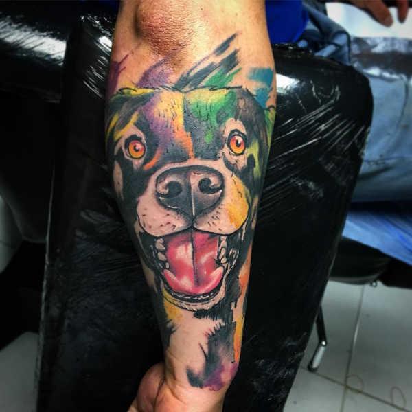 Tatuaż Z Psem Znaczenie Symbolika 40 Zdjęć