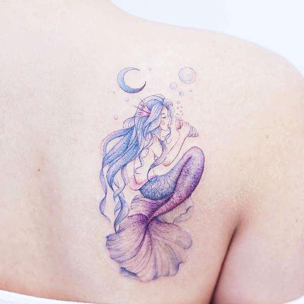Znaczenie tatuaży  Tatuaż syrena – znaczenie, historia, 25 zdjęć
