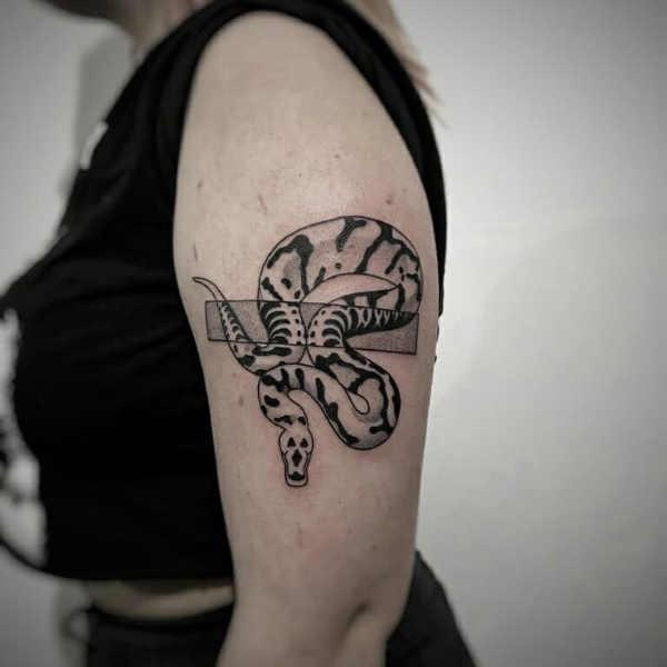 Tatuaż Wąż Znaczenie Historia 40 Zdjęć