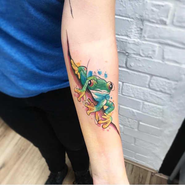 Tatuaż żaba Znaczenie Historia 50 Zdjęć