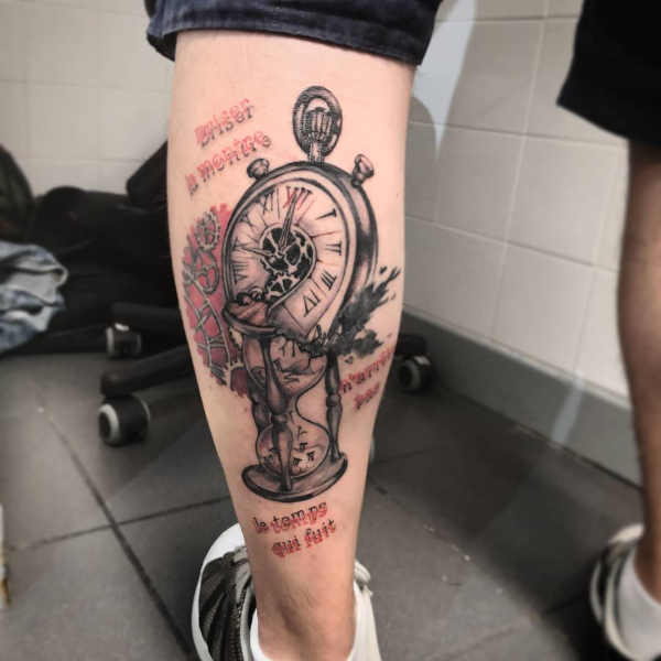 Tatuaż Z Zegarem Znaczenie Historia 50 Zdjęć