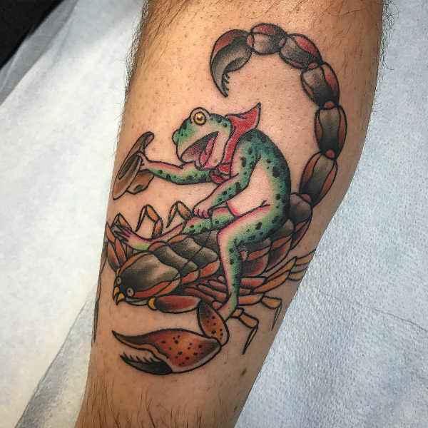 Znaczenie tatuaży Zwierzęta  Tatuaż skorpion – znaczenie, symbolika, 40 zdjęć