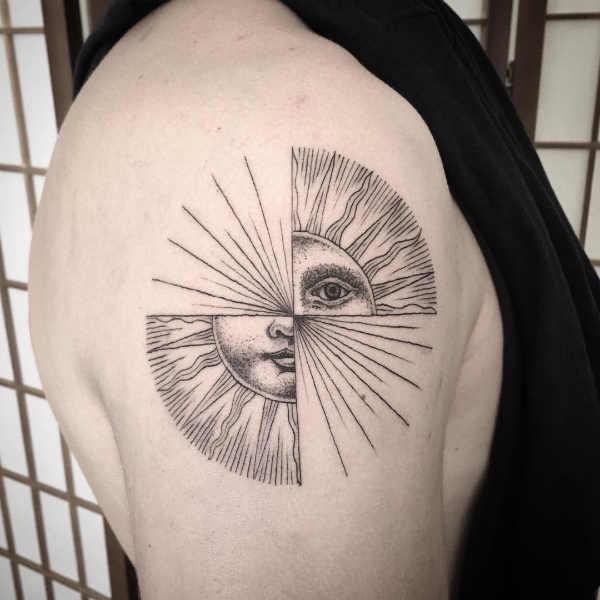 Tatuaż Słońce Znaczenie Historia 100 Zdjęć