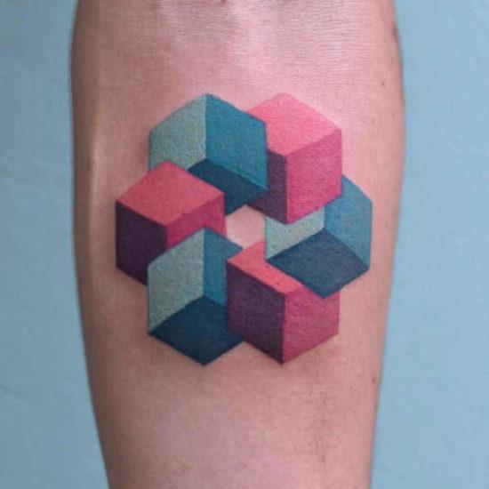 Tatuaże geometryczne  – znaczenie, symbolika, 90 zdjęć Pomysły na tatuaże