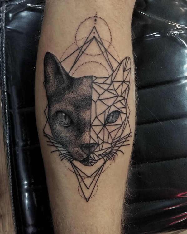 Pomysły na tatuaże  Tatuaże geometryczne  – znaczenie, symbolika, 90 zdjęć