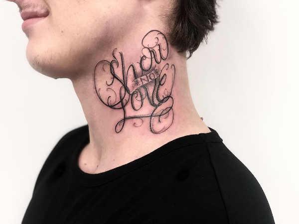 Części ciała Pomysły na tatuaże  Tatuaże na szyi – znaczenie symbolika 100 zdjęć