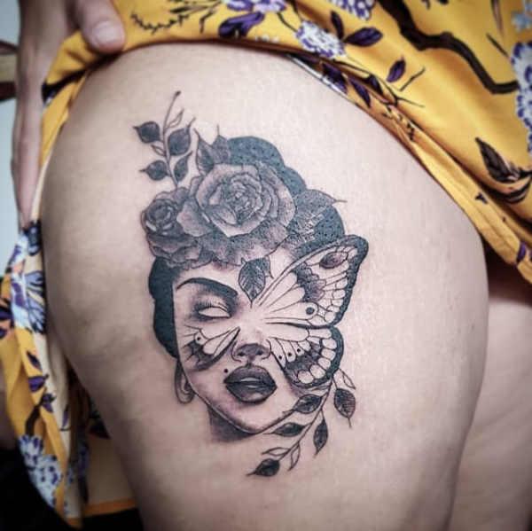 Tatuaże Na Udo 150 Porywających Wzorów Dla Kobiet