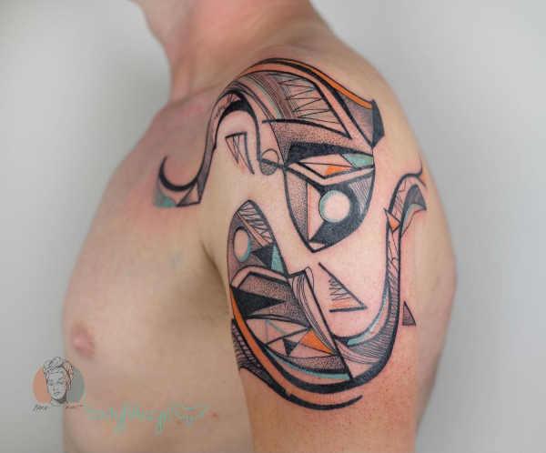 Pomysły na tatuaże Znaki zodiaku  Tatuaże ze znakami zodiaku: ryby – znaczenie, historia, 50 zdjęć
